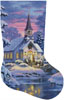 Country Church Stocking Right (Large) - Cross Stitch Chart