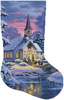 Country Church Stocking (Right) - Cross Stitch Chart