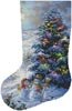 Country Shopping Stocking (Left) - Cross Stitch Chart