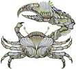 Crab - Cross Stitch Chart