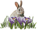 Crocus Bunny - Cross Stitch Chart