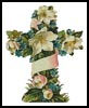 Cross of Flowers 1 - Cross Stitch Chart