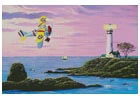 Curtiss Sparrowhawk near Pigeon Pt. Lighthouse - Cross Stitch