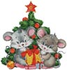 Cute Christmas Mice - Cross Stitch Chart