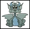 Cute Dragon 2 - Cross Stitch Chart