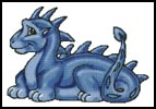 Cute Dragon (Blue) - Cross Stitch Chart