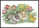 Cute Easter Bunnies - Cross Stitch Chart