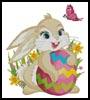 Cute Easter Bunny - Cross Stitch Chart