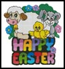 Cute Happy Easter - Cross Stitch Chart