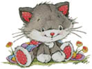 Cute Kitty - Cross Stitch Chart