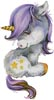 Cute Purple Unicorn - Cross Stitch Chart