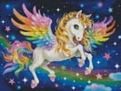 Cute Rainbow Pegasus (Large) - Cross Stitch Chart