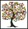 Decorative Autumn Tree - Cross Stitch Chart