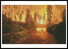 Deer in Forest Fire - Cross Stitch Chart