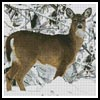 Deer in Snow - Cross Stitch Chart