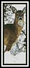 Deer in snow Bookmark - Cross Stitch Chart