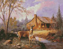 Deer Near the Cabin - Cross Stitch Chart