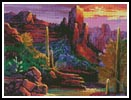 Desert Canyon - Cross Stitch Chart