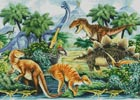 Dino Valley Landscape - Cross Stitch Chart