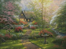 Dogwood Cottage (Large) - Cross Stitch Chart