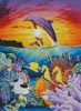 Dolphins and Sea Horse - Cross Stitch Chart