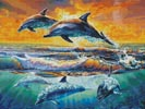 Dolphins at Dawn - Cross Stitch Chart