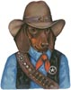 Doxie Texas Ranger - Cross Stitch Chart