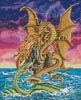 Dragon Battle - Cross Stitch Chart