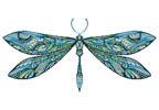 Dragonfly (Blue) - Cross Stitch Chart