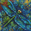Dragonfly Painting - Cross Stitch Chart