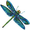 Dragonfly Painting (No Background) - Cross Stitch Chart
