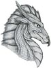 Dragon Head - Cross Stitch Chart