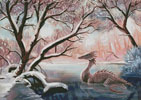 Dragon in a Winter Forest - (Facebook Group) Cross Stitch Chart