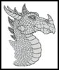 Dragon Profile - Cross Stitch Chart