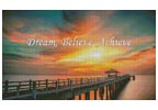 Dream, Believe, Achieve - Cross Stitch Chart