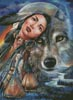 Dream of the Wolf Maiden - Cross Stitch Chart