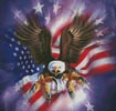Eagle Burst - Cross Stitch Chart