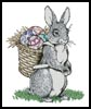 Easter Bunny Carrying Eggs - Cross Stitch Chart