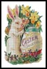 Easter Bunny Painting Egg - Cross Stitch Chart