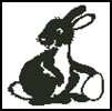 Easter Bunny Silhouette - Cross Stitch Chart