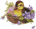 Easter Duck - Cross Stitch Chart