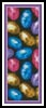 Easter Eggs Bookmark - Cross Stitch