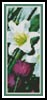 Easter Flowers Bookmark - Cross Stitch