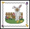Easter Teddy Border 1 - Cross Stitch Chart