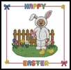 Easter Teddy Border 2 - Cross Stitch Chart
