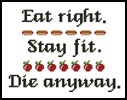 Eat Right - Cross Stitch Chart
