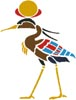 Egyptian Crane - Cross Stitch Chart