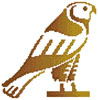 Egyptian Hawk - Cross Stitch Chart