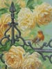 European Robin and Roses (Crop) - Cross Stitch Chart