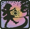 Fairy Silhouette Square 2 - Cross Stitch Chart